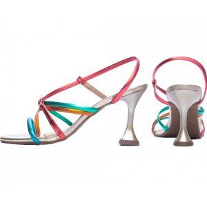 Sandália Metalizada Colorida