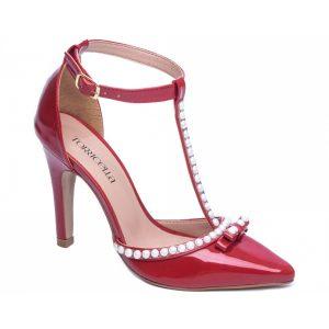 Sapato Scarpin Pérolas Vermelho